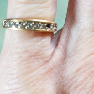 VTG.10K&DIAMOND RING.HALLMARK CW9